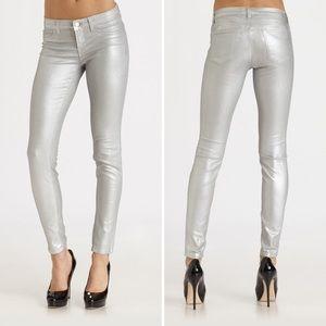 J Brand Super Skinny Silver Jeans Size 27 🥰👖🔥🔥